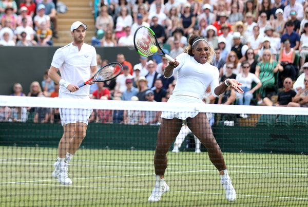 Serena Williams & Andy Murray in action at Wimbledon